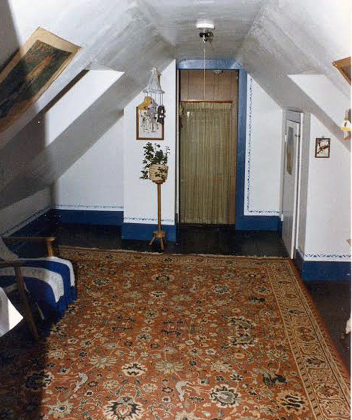 The attic room before it was renovated
