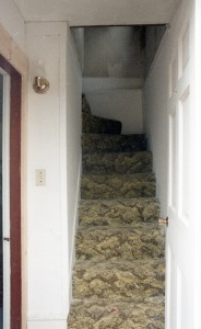 The front stairs when the client purchased the house