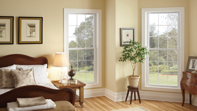 Silverline 8500 series vinyl windows with optional dividers
