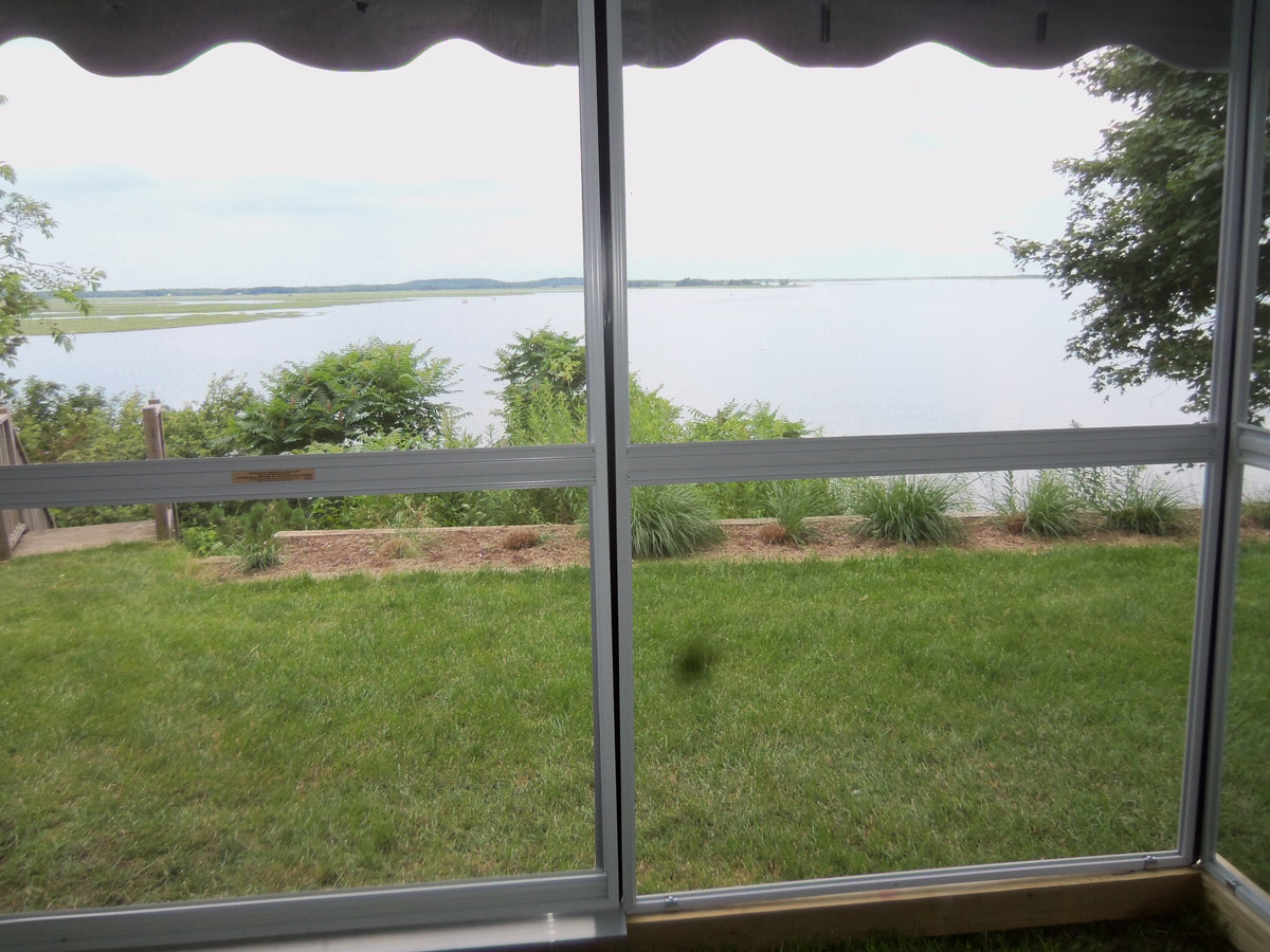 View Of Plum Island From Inside The Patio Mate Screen Enclosure ...